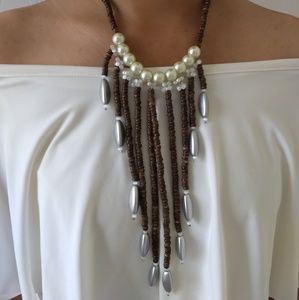 Handmade Pearl Wooden Natural Necklace